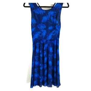 Maple Blue daffodil anthropology dress size 4